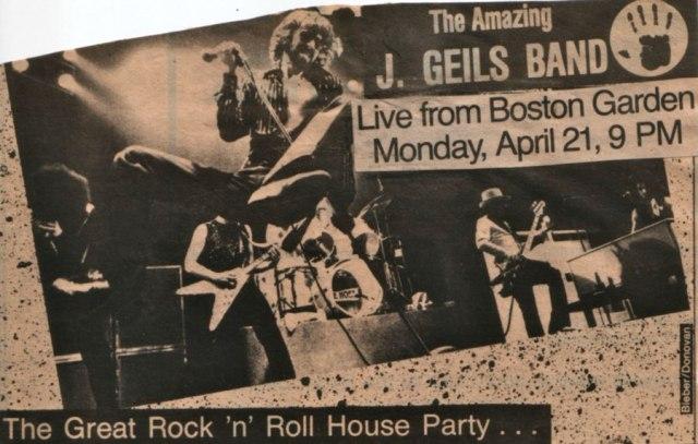 1979 Live From Boston Garden Advert