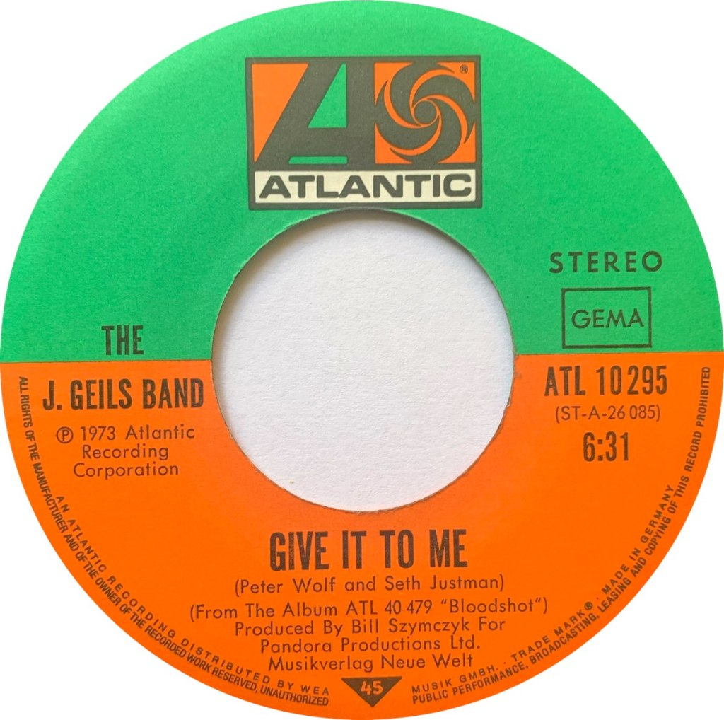 1973 - Give It To Me / Hold Your Loving, Germany