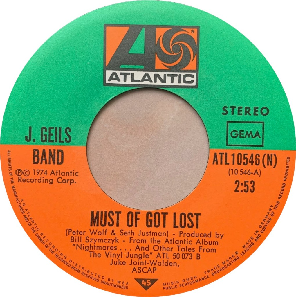 1974 - Must Of Got Lost / Funky Judge, Germany