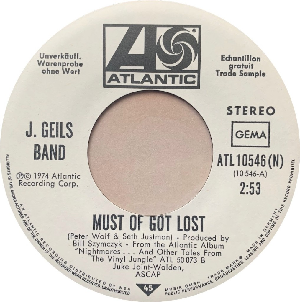 1974 - Must Of Got Lost / Funky Judge, Germany (Promo)