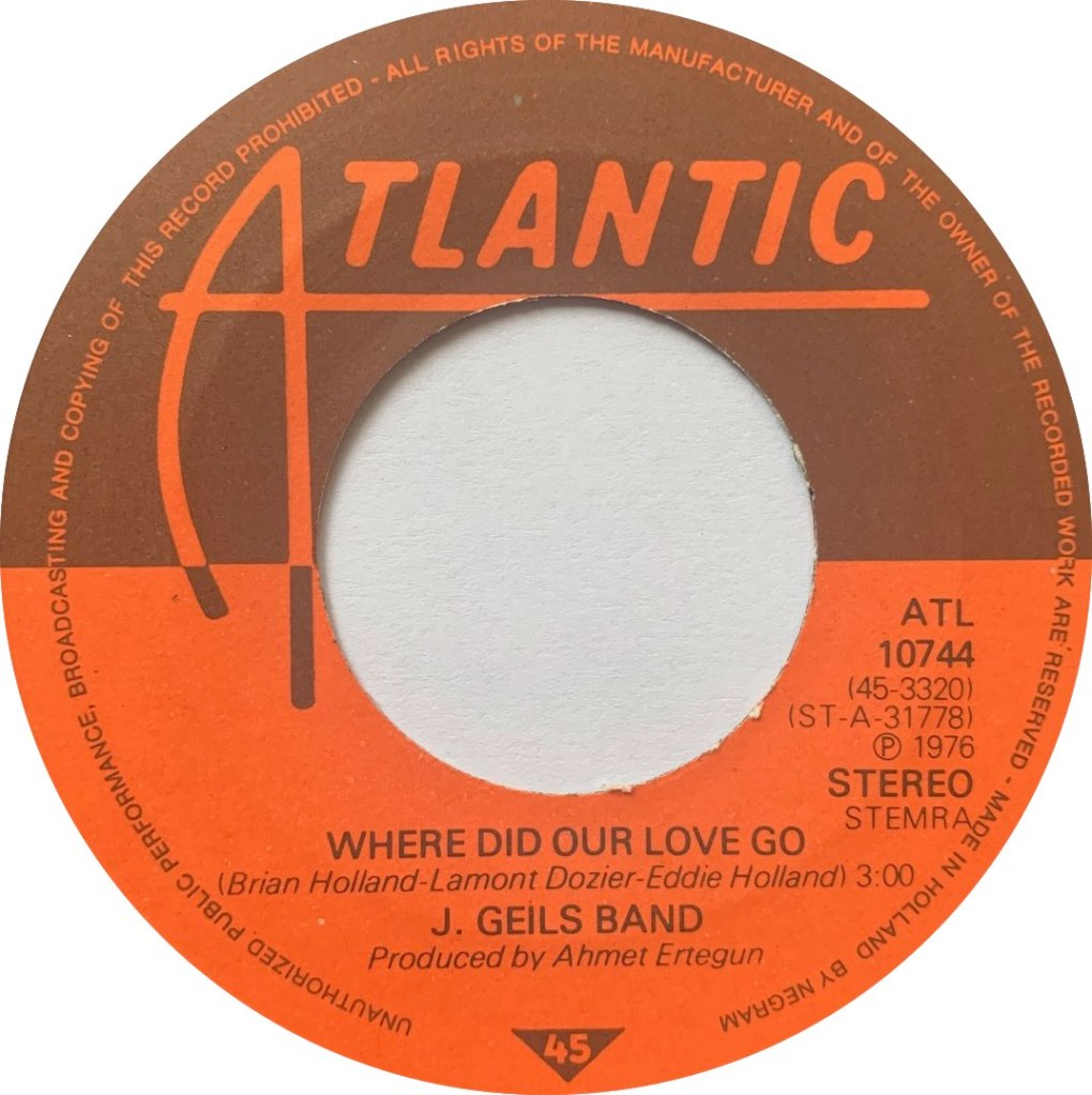 1976 - Where Did Our Love Go / What's Your Hurry, Holland