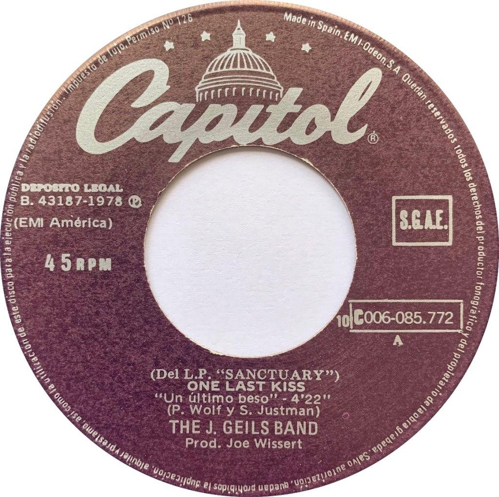 1978 - One Last Kiss / Revenge, Spain