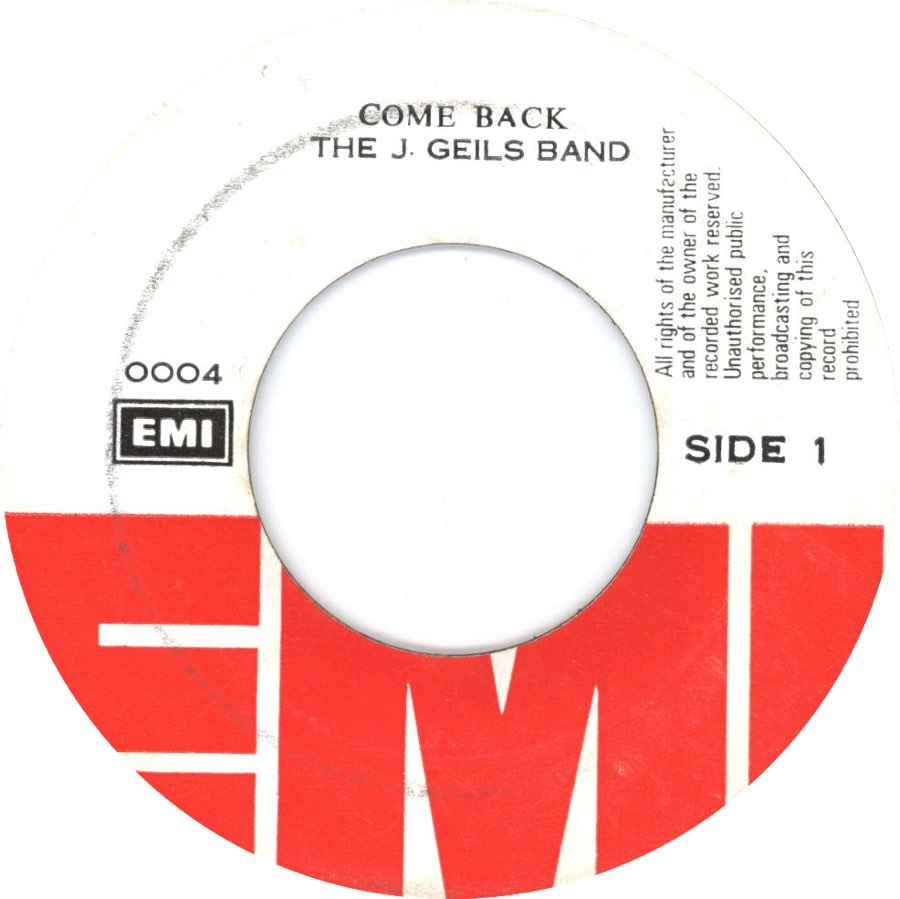 1980 - Come Back / Just Cant Wait (EMI Pirate)