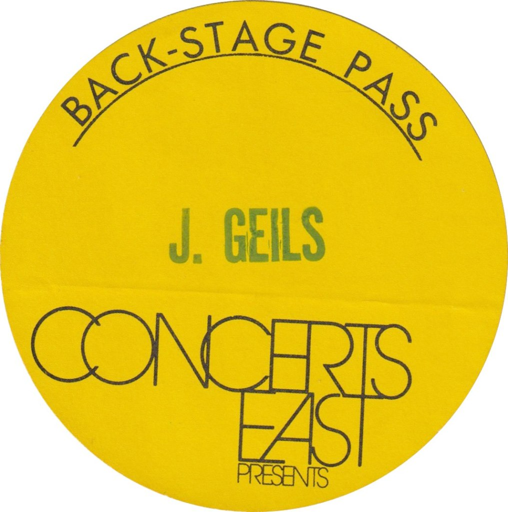 1972 - UK May/June 1972 Backstage Pass Sticker