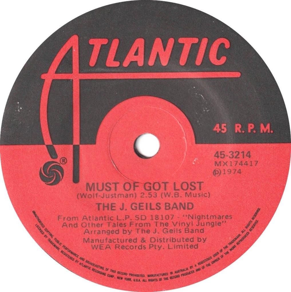 1974 - Must Of Got Lost / Funky Judge (Australia)