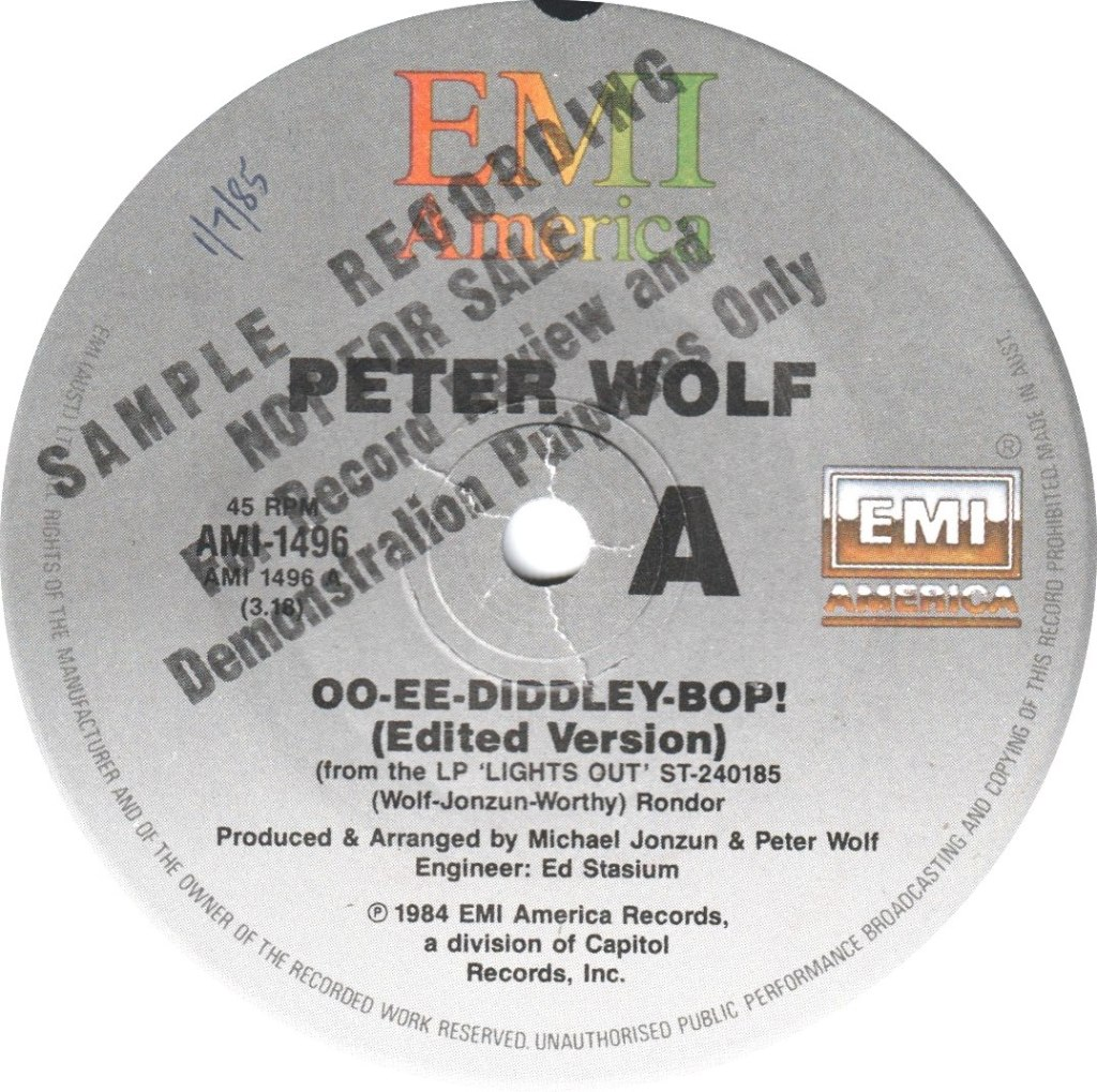 1984 - Oo-Ee-Diddley-Bop! / Crazy (Australia Promo)